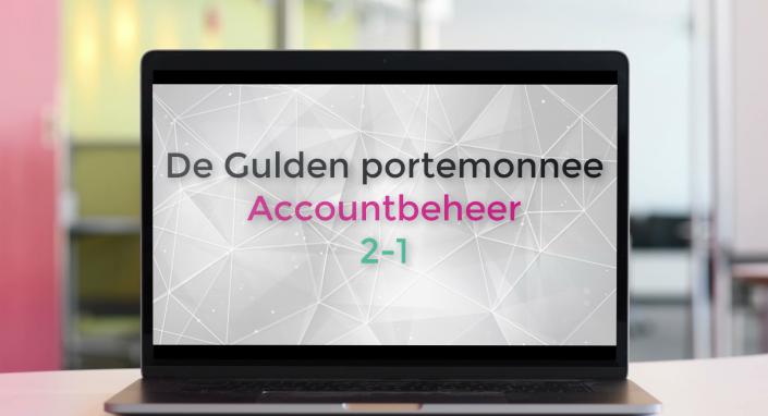 Accountbeheer in de Gulden Wallet
